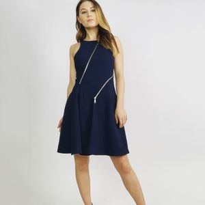 Rebecca Minkoff Navy Zipper Mini Dress